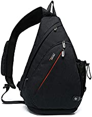 Tudequ Crossbody Backpack Sling Chest Bag Backpack Casual Daypack with Dry Wet Separation and USB port for Men & Women