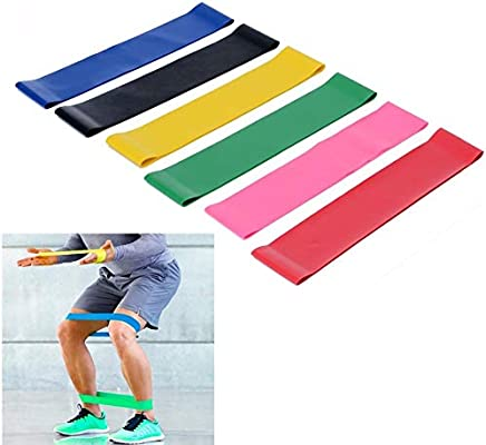 Amazon.com : FATHER.SON 6 Colors Fitness Yoga Band Natural ...