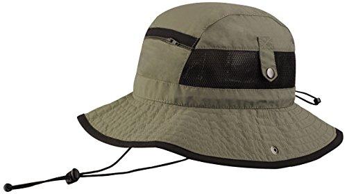 Juniper Taslon UV Bucket Hat with Snaps Brim and Mesh Side Panel, One Size, - Mesh Hats Bucket Side