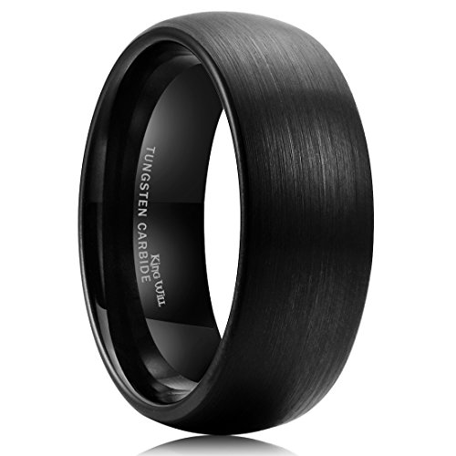 Wide Tungsten Ring Wedding Band - 1