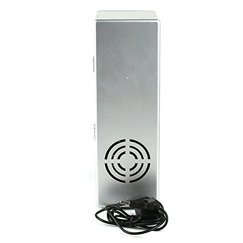 USB Fridge Cooler & Warmer, HQF® Mini USB-Powered Beverage Drink Cans Cooler/Warmer Refrigerator [Keep Warm and Cold] for PC Laptop Car Home office (Silver, Medium) by HQF (Image #6)
