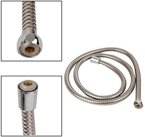 Haute qualit/é tuyau en acier inoxydable 1.1m Tuyau de douche Salle de bain flexible Tuyau eau Couleur Argent Pumbing commun Tuyaux