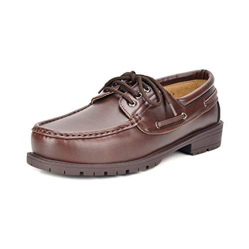 Bruno Marc Men's HANKOK-01 Burgundy Brown Oxfords Moccasins Boat Shoes Size 8 M US