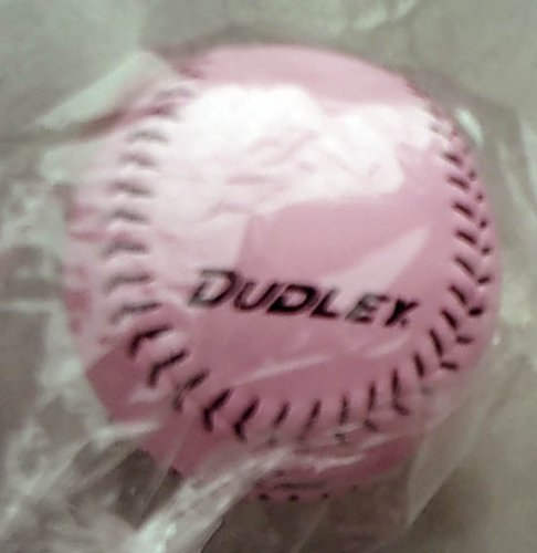 Dudley Pink Baseball with Black Stitching - 10