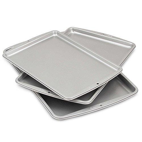 - Cookie Sheets Aluminum Dishwasher safe by Wilton® 3-piece-set, 13 1/4