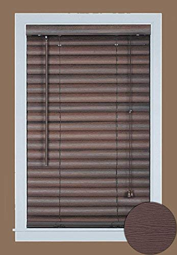 (Achim Home Furnishings Luna 2-Inch Vinyl Blind, 31 by 64-Inch, Mahogany)