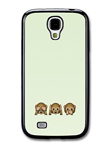Funny Cute Emoji Monkeys on Whats App Green coque pour Samsung Galaxy S4