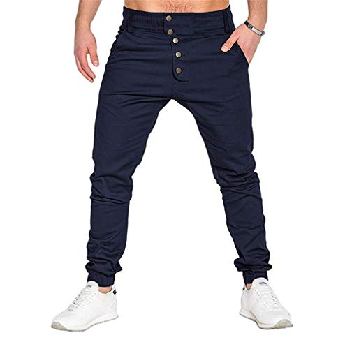 Pants Naughty (naughty kiss Men's Teens Outdoor Casual Sports Chino Cargo Pants, Slim-Fit Jogger Pants Sweatpants for Autumn Winter Spring)