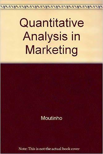 Quantitative Analysis in Marketing