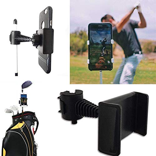 Golf Phone Holder Clip | Cell Phone Swing Recording Clip for Alignment Stick | Golf Accessories