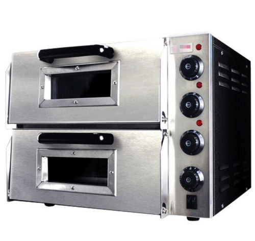 "220V / 110V 3000W 16"" Commercial Electric Double Door Panels Pizza Oven Ceramic Stone"