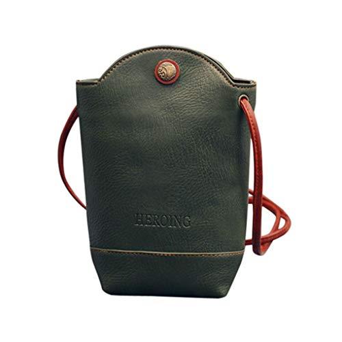 Kanpola Women Messenger Bags Slim Crossbody Shoulder Bags Handbag Small Body Bags Black Green
