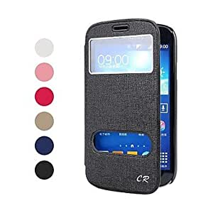 CECT STOCK Sólido Cuero Color superior de la PU de cuerpo completo del caso protector con el soporte y la ventana para Samsung I9118/9128/9082 , Azul