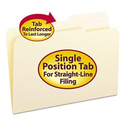 (Guide Height Folder, 2/5 Cut Right, Reinforced Top Tab, Legal, Manila, 100/Box, Total 500 EA)
