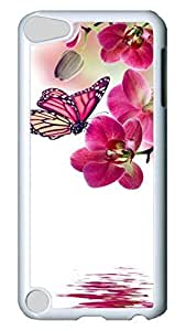 Brian114 Case, iPod Touch 5 Case, iPod Touch 5th Case Cover, Butterfly Orchid And Butterfly 4 Retro Protective Hard PC Back Case for iPod Touch 5 ( white )