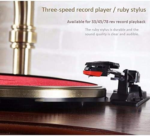 SMLCTY Gramófono clásico, Retro Antiguo Disco de Vinilo Jugador ...