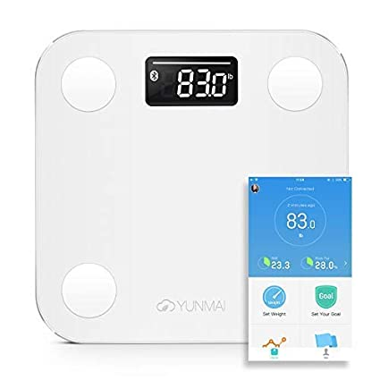 Yunmai Mini - Báscula de Baño Digital, Smart con Bluetooth, Indice de Grasa Corporal