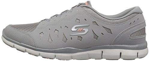 Slip Gray Women Gratis Memory on Flex Skechers 22771 Sneaker Heart Light Foam wRYvIxOq