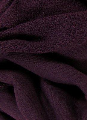 Organic Cotton Heavyweight French Terry Fabric - Plum - By the Yard (Fabric Plum One Yard)