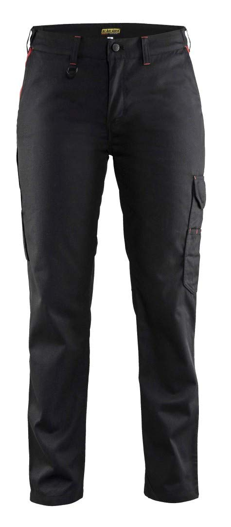 Blaklader 710418009956D20 Ladies Service Trousers, Size 32/30, Black/Red