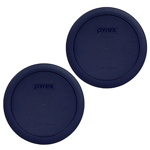 Pyrex Blue 4 Cup Round Plastic Cover 7201 2-pack