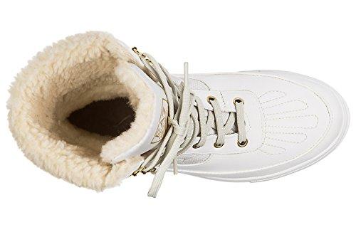 Emporio Armani EA7 demi bottes femme urban blanc