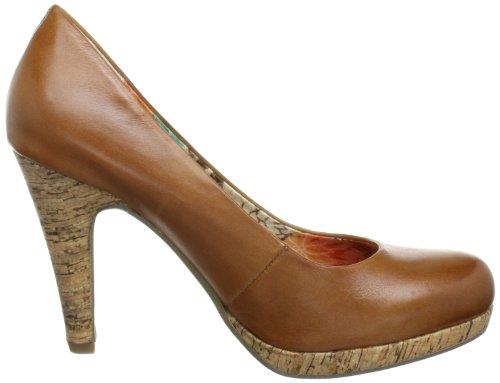 Marco Tozzi 2-2-22445-20 - Zapatos de tacón de cuero para mujer Marrón (Braun (CHESTNUT ANTIC 357))