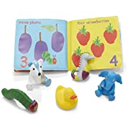 Eric Carle The Very Hungry Caterpillar Bath Book & 5 Squirty Toys Gift Set