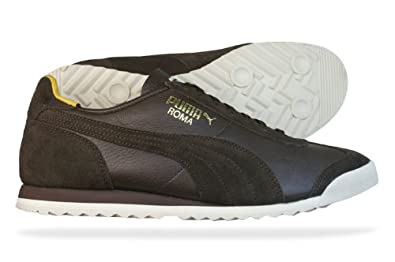 b71cd0dfe50f Image Unavailable. Image not available for. Colour  Puma Roma Slim Leather Mens  Trainers   Shoes - Brown - SIZE UK 11