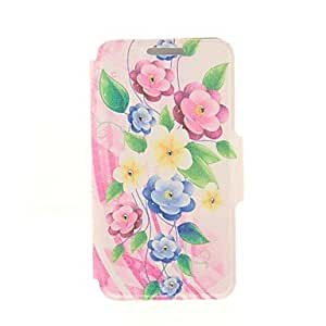 Kinston Color Petunia Diamond Paste Pattern PU Leather Cover for iPhone 6