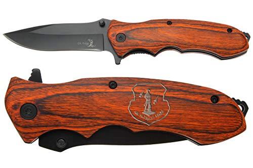 """NDZ Performance Elkridge 3.5"""" Spring Assisted Folding Pocket Knife ER-A160BW Air National Guard Emblem"""