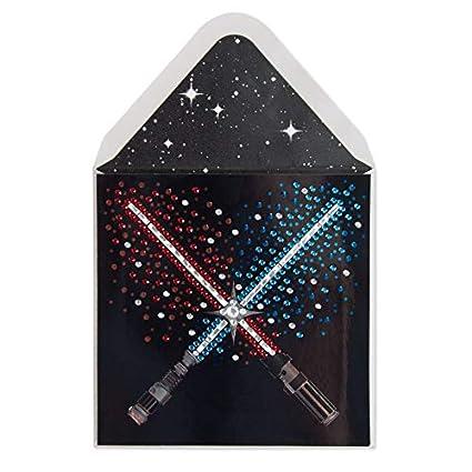 Amazon com : Papyrus Fabulous Lightsaber Battle Blank Card