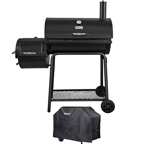 (Royal Gourmet Charcoal Grill Offset Smoker (Grill + Cover) )