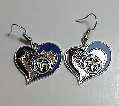 Earrings Tennessee Titans Heart Shape Fish Hook New
