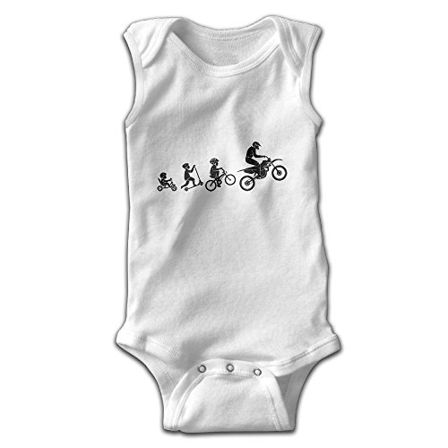 Efbj Infant Baby Girl's Rompers Sleeveless Cotton Onesie Motocross Evolution Outfit Jumpsuit Summer Pajamas (Evolution Sleeveless)