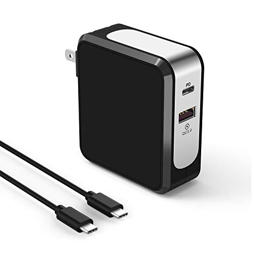Pixel Wall (USB C Wall Charger for Google Pixel/Pixel XL/2/2 XL/3/3 XL - 30W PD Power Delivery+18W QC3.0 PowerPort USB C Rapid Charger with 5FT USB C-C Fast Charging Cord for Samsung Galaxy, LG, Moto Z and More)