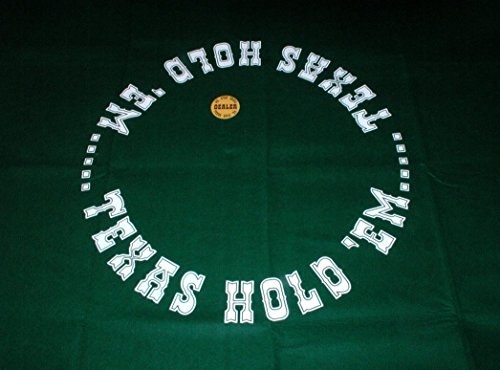 Worldwise Imports Hold Em Mat with Dealer Button by Worldwise Imports