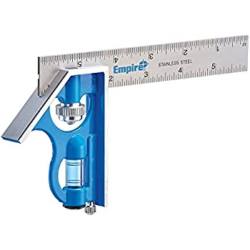 Empire E255 6 Inch Pocket True Blue Combination Square(Sold By 2 Pack)