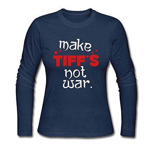 Hengguang Make Tiff's Women Long Sleeve T Shirts Navy - Co Tiff