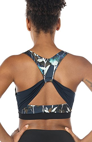 icyzone Workout Yoga Clothes Activewear Moving Comfortable Racerback Sports Bras (S, Lotus-Butterfly Back) (Clothing Yoga Lotus)