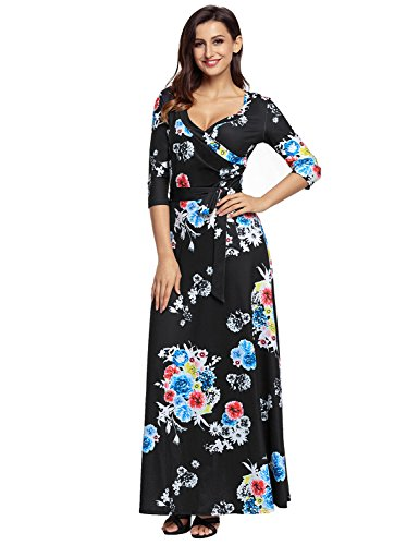 Sleeve Print Women Dress - 4