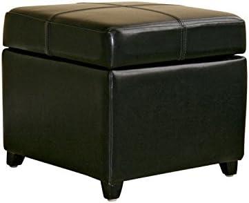 Baxton Studio Tate Bi-cast Leather Storage Ottoman