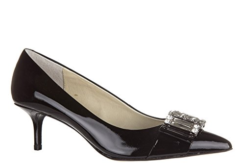 Michael Kors Womens Leather Pumps Court Shoes High Heel Michelle Black dR4goLz