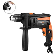 TACKLIFE 120v Hammer Drills Dual Mode 1/2 in. Powerful Lightweight Reversible with Variable Speed (Equivalent to 900W 7.5A) Trigger, Speed Setting Knob for Wood, Steel, Masonry | PID01A
