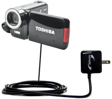 Gomadic High Output Home Wall AC Charger Designed for The Toshiba CAMILEO H30 HD Camcorder with Power Sleep Technology Intelligently Designed with Gomadic TipExchange