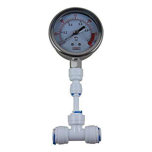 DIGITEN Water Pressure Gauge Meter 0-1.0MPa 0-150psi 3/8