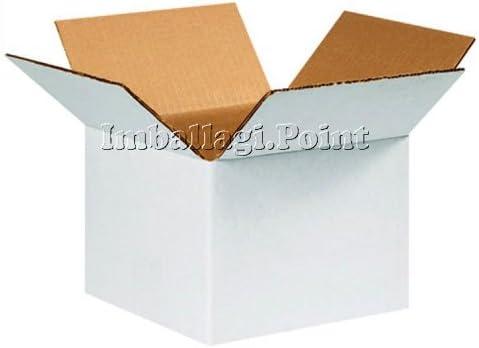 5 piezas Cajas cartón doble capa ultra resistentes 60 x 40 x 40 cm blancas: Amazon.es: Bricolaje y herramientas