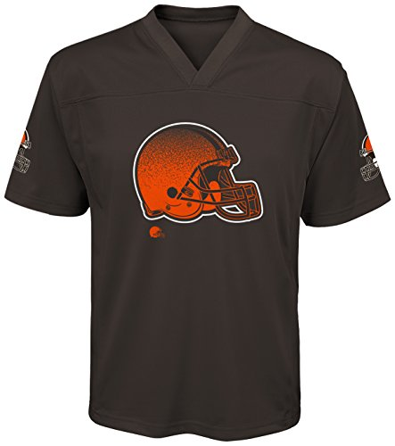 Outerstuff NFL Cleveland Browns Youth Boys Color Rush Fashion Top, Large (14-16), Seal Brown ()