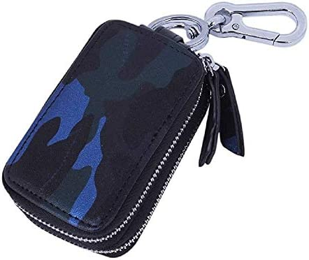 Estuche for Llaves Camo Smart Car Llave de Ventana Fácil de Ver con Llavero de Metal Bolsa Doble con Cremallera for Llave Control Remoto (Color : Blue): Amazon.es: Equipaje