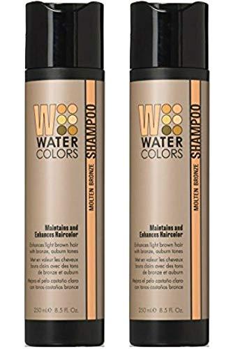 2 Pack WaterColors Molten Bronze Shampoo 8.5 oz